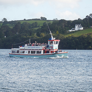 Enterprise pleasure boat on the river Fal