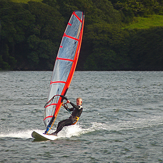 Windsurfer on Devron Creek